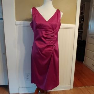 Jones Wear Cocktail Dress Fuschia NWOT